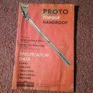 Proto Torque handbook, Reprinted From Motor Auto Repair Manual 070716435