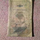 Vintage 1928 Chevrolet Motor Cars Instruction Manual 070716437