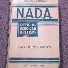 VIntage NADA Offiicial Car Guide Central Ed April 1971 070716477