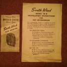 Vintage Booklet 1947 South Wind Car Heater  070716537