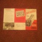 Vintage NAPA Jobber, Soundblaster Ad  Local Parkersburg, WV  Harries Auto 070716505