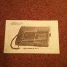 AM/FM Clock Radio Cassette Recorder Manual  070716631