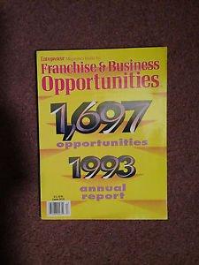 Entrepeneur Magazine Franchise & Business Ops 1993 Report 070716651