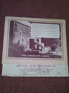 Vintage 1975 The American Album Calendar Harley Ad, Local Ad 070716454