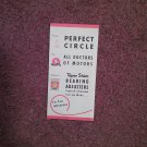 Vintage Booklet (Trac Size) Perfect Circle, Taper Shim Bearing Adjusters Reference  070716752