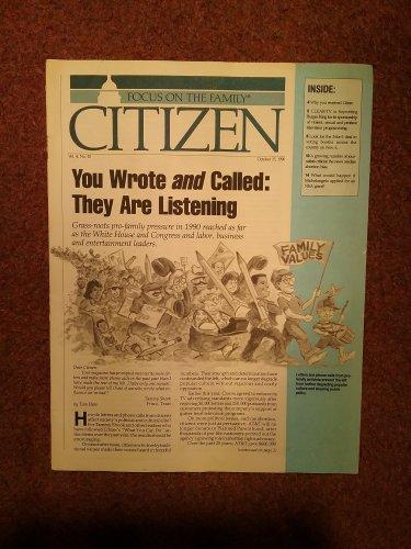 Christian Magazine, Focus on The Family, Oct 15, 1990, Citizen 070716778