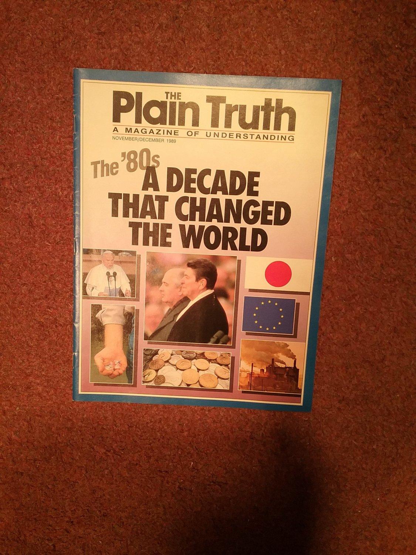 Plain Truth Magazine, November/Dec 1989  The 80s 70716796