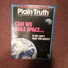 Plain Truth Magazine,  July 1989 Can We Rule Space  70716798