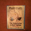 Plain Truth Magazine, May/June 1991 The Search for a Just nation  70716800