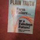 Plain Truth Magazine,  July-August 1987 Farm Failure? 70716812