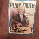 Plain Truth Magazine,  Sept 1987 Can Man Create a Perfect Consitution 70716812