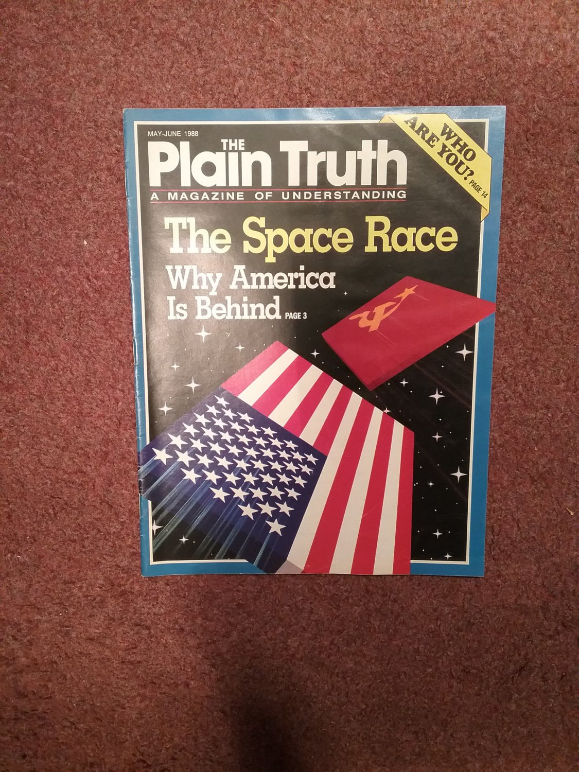 Plain Truth Magazine, May-June 1988 The Space Race  70716823