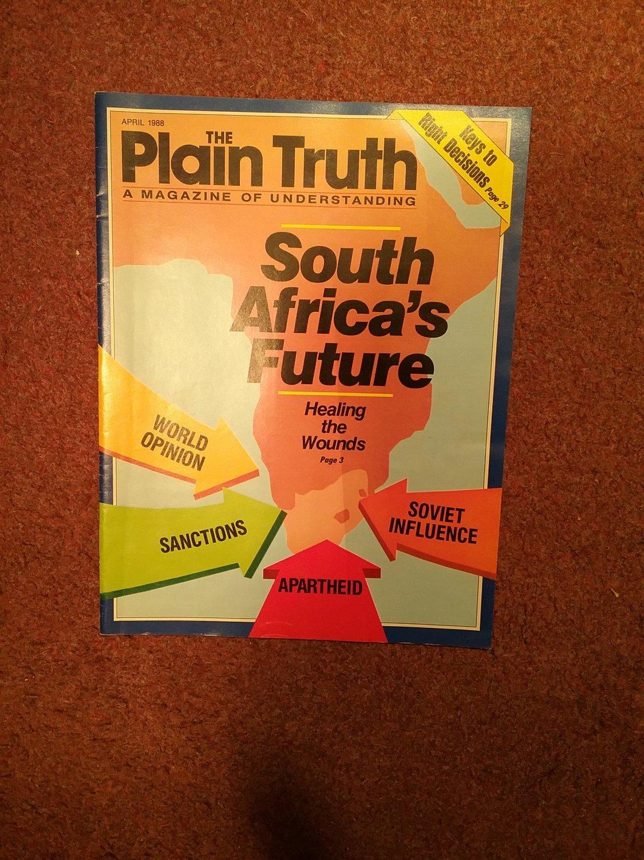 Plain Truth Magazine, April 1988 South Africa's Future   70716825
