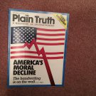 Plain Truth Magazine, November/December 1988 America's Moral Decline 70716826