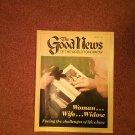 The Good News Magazine, Febraury 1987, Woman-Wife-Widow  070716874