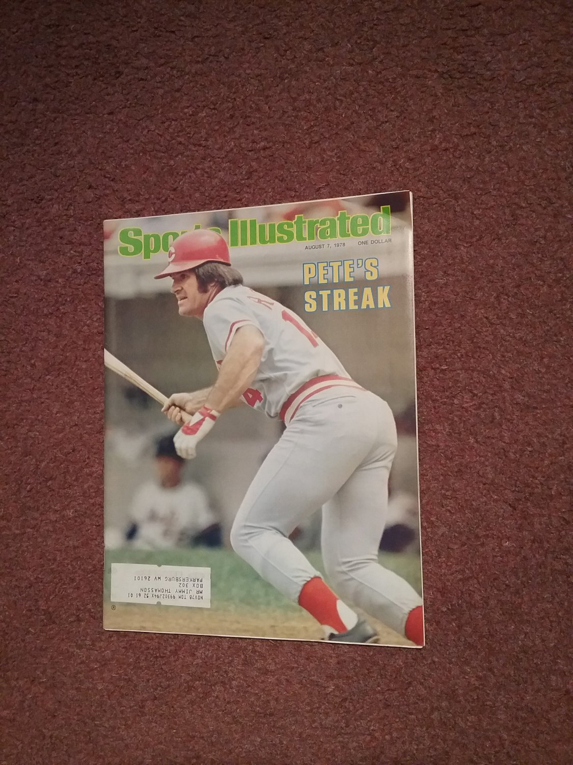 Sports Illustrated Magazine August 7, 1978 Pete Rose 0707161145