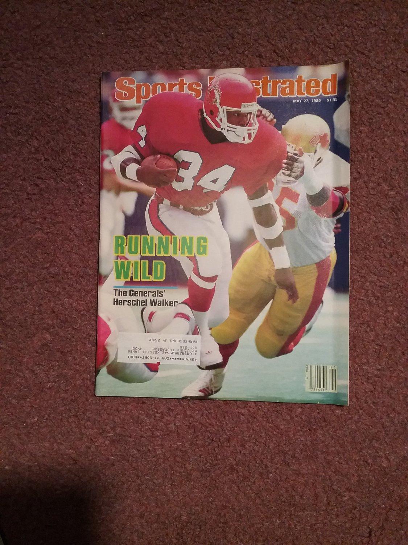Sports Illustrated Magazine May 27, 1985 Herschel Walker  0707161161