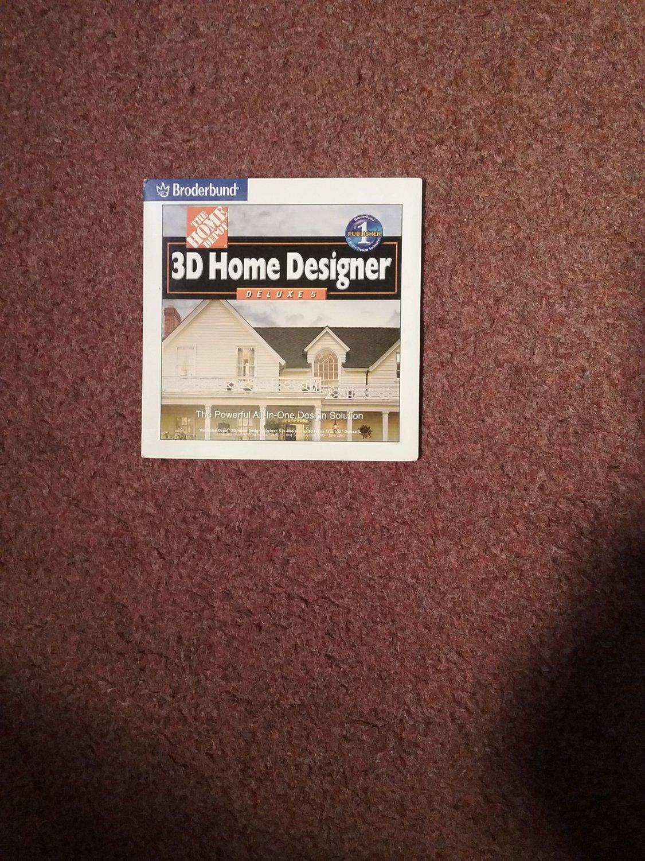 The Home Depot, 3D Home Designer CD Deluxe  0707161415