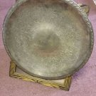 """18"""" Unmarked, Vintage Silver Plate Serving Tray ROUND  M09241644"""