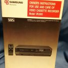 Samsung VCR  VR2310 Owner's Manual Instructions 0707161621