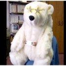 RARE 1995  LG  2 12' Polar Bear, POLARIS MASCOT, Bear E. Warm, INCENTIVE DISPLAY