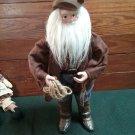16 in. Cowboy Santa Horseshoe Rope Prospector Look Holiday Decor Jacket Fringe
