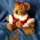 Dandee Small Christmas Bear, Red Jacket Darling Perfect for Smaller Kids Sitting