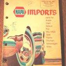 1976 NAPA Imports Catalog No. 4001 Austin Capri Datsun Fiat MG, MGB, Opel More