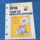 1976 NAPA Echlin Tune-up Specifications Passenger Cars, Imported cars, Trucks
