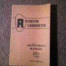 1961 Rochester Carburetor Adjustment Manual General Motors Cars Specs Procedure