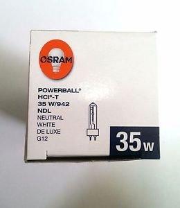 3X Osram 35w/942 NDL HCI-T G12 Matal Halide Powerball Neutral White De Luxe