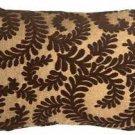Pillow Decor - Brackendale Ferns Brown Rectangular Throw Pillow