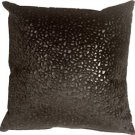 Pillow Decor - Pebbles in Black 18x18 Faux Fur Throw Pillow