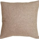 Pillow Decor - Herringbone Brown Square Decorative Toss Pillow