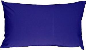 Pillow Decor - Caravan Cotton Royal Blue 12x19 Throw Pillow