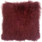 PIllow Decor - Genuine Mongolian Tibetan Sheepskin Lamb Wool Wine Throw Pillow