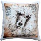 Pillow Decor - Poodle 17x17 Dog Pillow  - SKU: LE1-0030-01-17