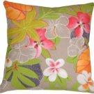 Pillow Decor - Hawaii Garden 20x20 Floral Throw Pillow  - SKU: VB1-0014-01-20