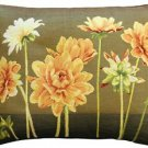 Pillow Decor - Yellow Dahlias Rectangular Tapestry Throw Pillow