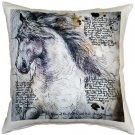 Pillow Decor - The Love of Horses Stallion 17x17 Throw Pillow