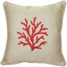 Pillow Decor - Sea Coral in Red 17x17 Throw Pillow  - SKU: VC1-0005-04-17