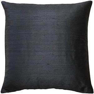 Pillow Decor - Sankara Black Silk Throw Pillow 16x16  - SKU: FB1-0001-01-16