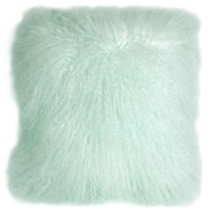 PIllow Decor - Genuine Mongolian Tibetan Sheepskin Lamb Wool Pastel Mint