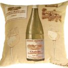 Pillow Decor - Fabrice de Villeneuve White Wine Pillow  - SKU: BA1-0005-01-18