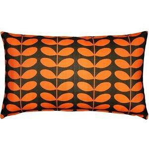 Pillow Decor - Mid-Century Modern Orange Throw Pillow 12x20