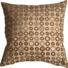 Pillow Decor - Houndstooth Spheres 18x18 Brown Throw Pillow