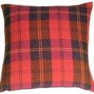 Pillow Decor - Contemporary Plaid Red 20x20 Throw Pillow  - SKU: MD1-0060-03-20