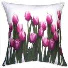 Pillow Decor - Vibrant Magenta Tulips 19x19 Throw Pillow  - SKU: VC1-0010-01-19