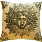 Pillow Decor - Sun King Beige Tapestry Throw Pillow - SKU: AB1-8779-02-20