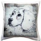 Pillow Decor - Beagle 17x17 Dog Pillow  - SKU: LE1-0016-01-17